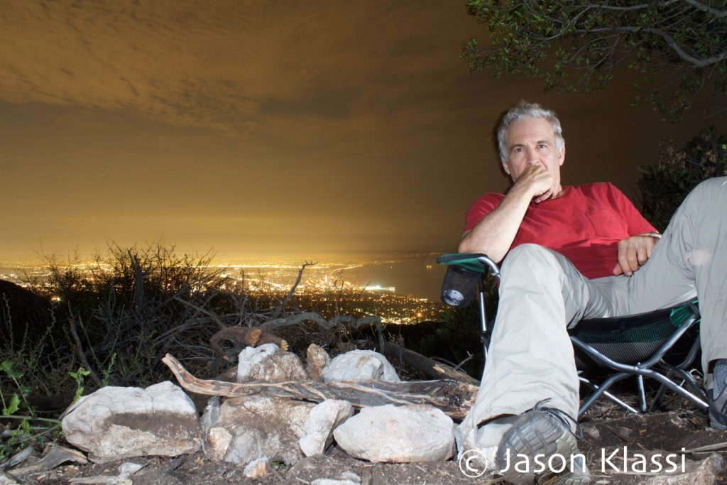 Jason Klassi on the edge of civilization in Los Angeles, California.